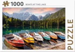Boats at the lake – puzzel 1000 stukjes
